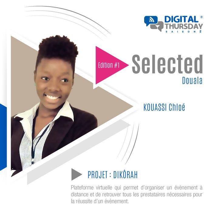 Projet Dikorah par chloé Kouassi sélectionné final digital thursday